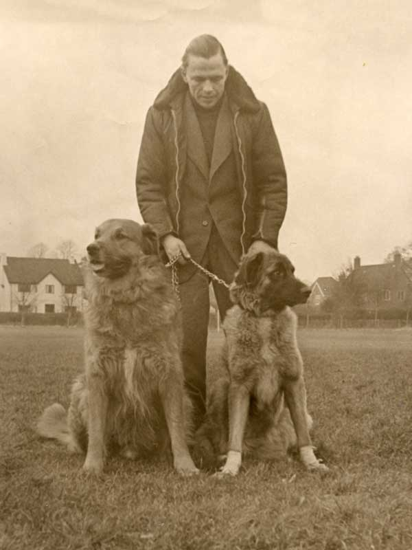 Essig with early Leonberger